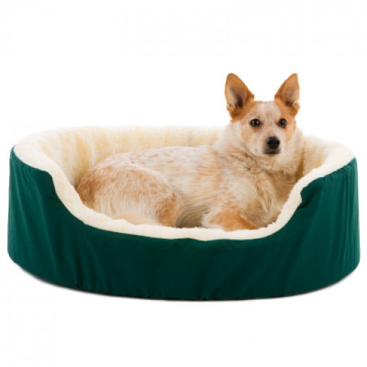 Canine Cushion Orthopedic Fabric and Fleece Dog Bed $41.99