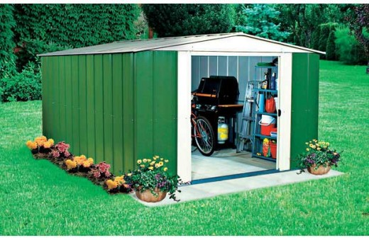 This is a good metal storage shed.  Many of these are in backyards all across America.