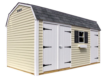 Vinyl sheds are also very popular.  Nice looking, but it's not very easy to modify the design.