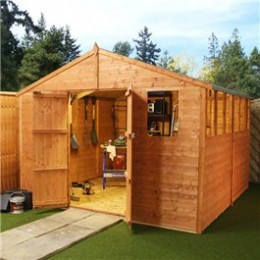Another great looking wooden garden shed, you could easily build yourself.