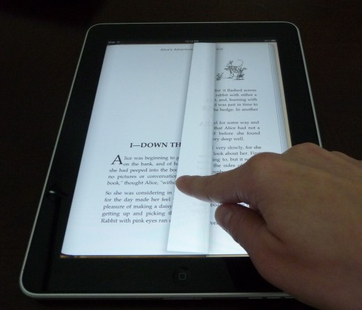 The iPad makes a great e-reader, and the way the pages flip is really clever.