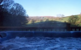 View from the hot tub at Black Hall Lodges in Shropshire