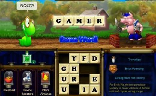 Screenshot of Bookworm Adventures game.