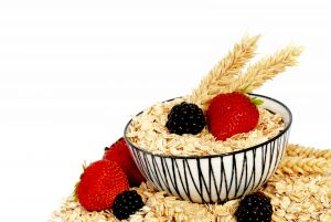 High fiber cereals and fruit make a healthy breakfast!