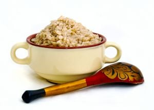 Oatmeal is a healthy, high fiber cereal.