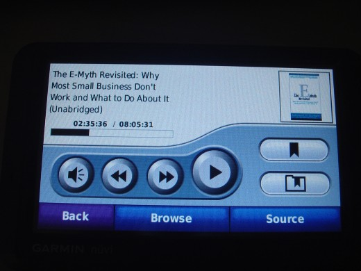My favorite feature of this GPS is the ability to quickly load and play audiobooks. The device plays MP3s as well!