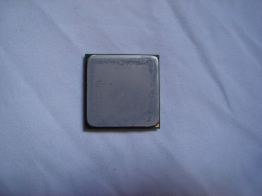 Top of a AMD 4200+ x2 processor