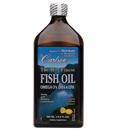 Carlson Lemon Flavor Regular Fish Oil is what I use most of the year except for a brief period in winter when I switch to Carlson Cod liver oil to benefit from the Vitamin D.