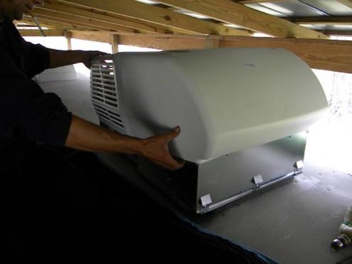 Installing the new AC shroud finishes the job.