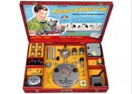 "This was the most elaborate Atomic Energy educational set ever produced, but it was only only available from 1951 to 1952,"" according to ORAU.org. The toy contained actual uranium ore."