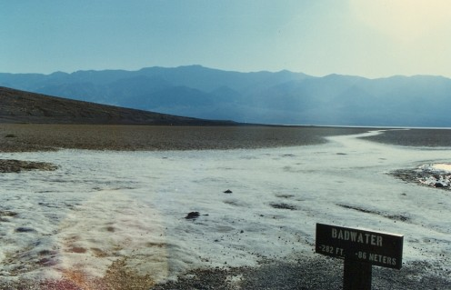 The name says it all. Badwater, Death Valley National Park. Lowest point in North America.