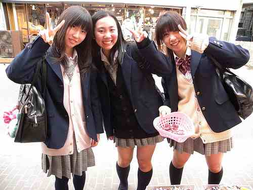 Japanese school girls photo by barbarellathemadcatlady on flickr