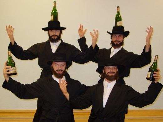 "Pet owners celebrate the debut of Kosher Kats with ""The Bottle Dance."""