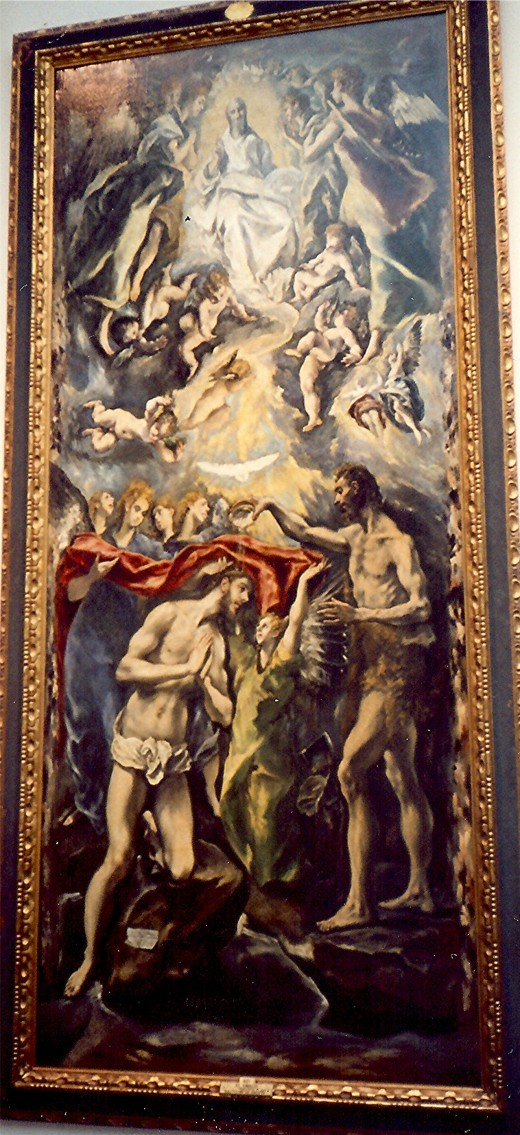 Baptism of Christ, 1596-1600 by El Greco