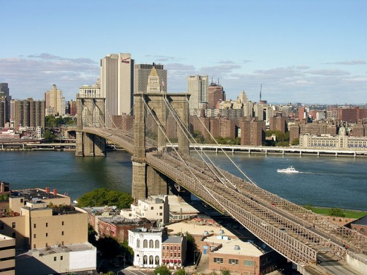 The Brooklyn Bridge (view from Brooklyn)