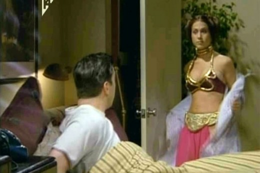 Jennifer Aniston as Princess Leia in a Friends episode