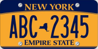 New New York State License Plates
