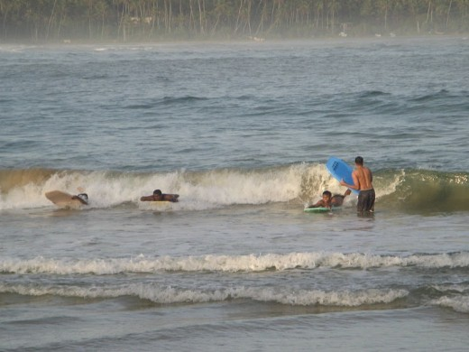 Body surfing , one activity I enjoyed the most at Dickwella Beach resort