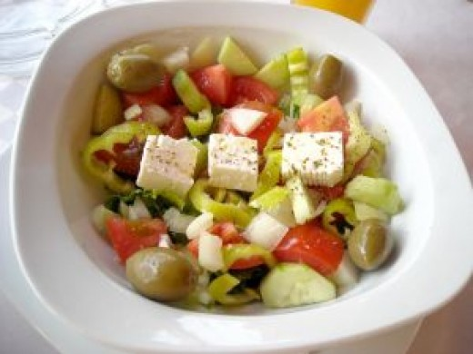 Classic Greek salad for the Mediterranean diet plan