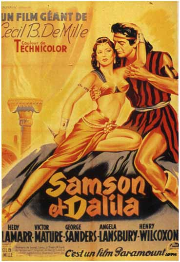 The 1949 version of Samson and Delilah was directed and produced by the legendary filmmaker, Cecile B. DeMille