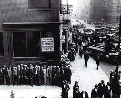 Unemployment line, NYC during the depression