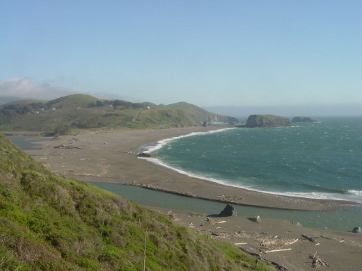 Goat Rock Beach at the mouth of the Russian River in Northern California
