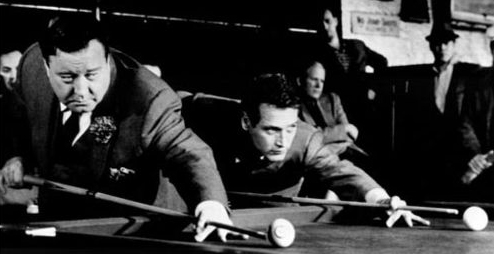 Minnesota Fats and Fast Eddie shoot a game of pool