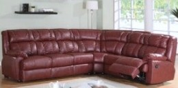 Burgundy Leather Sofa