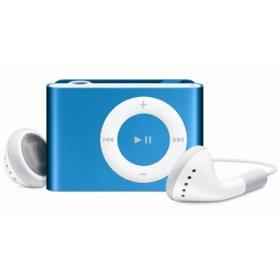 bright blue iPod shuffle, 1 gb, Gen2