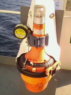 SHIP'S BRIDGE EQUIPMENT - (EPIRB) EMERGENCY POSITION INDICATING RADIO BEACON
