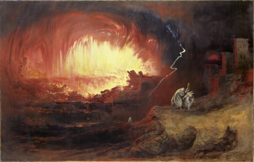 Sodom and Gomorrah. Nothing to do with Gays.