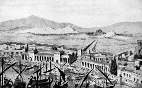 This was the trading port where the Athenians traded and imported supplies during the Peloponnesian War.