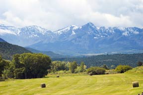 Late summer harvest on a ranch near Ridgway, Colorado provides fantastic photo opportunities.