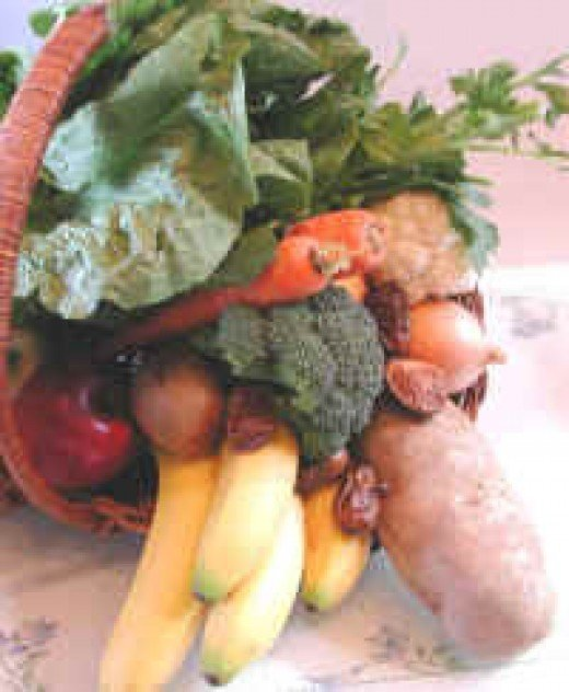 Fruits and vegetables are rich in antioxidants