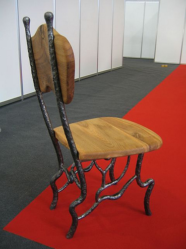 A simple wooden chair.