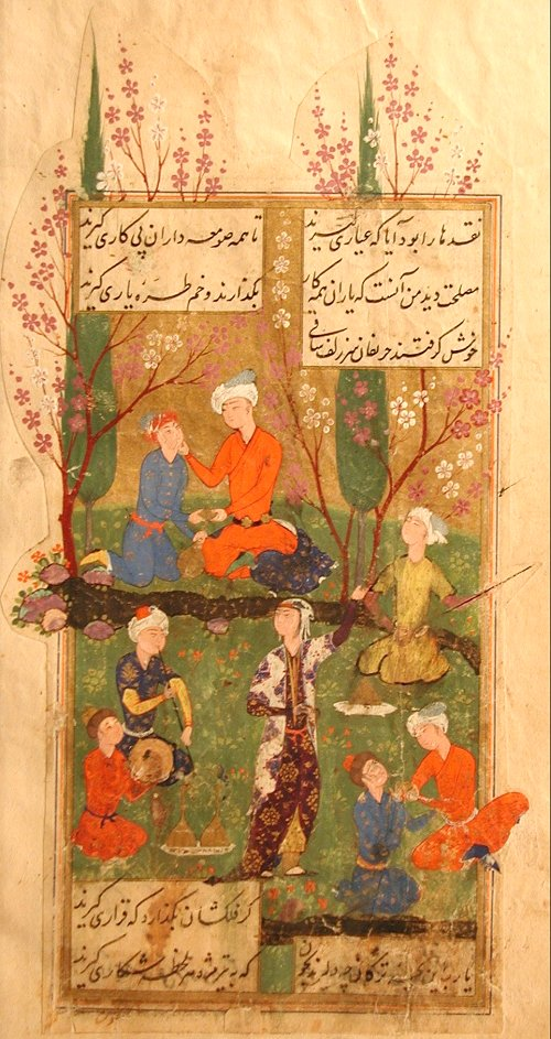 Hafez in a rose garden. Image from Wikipedia