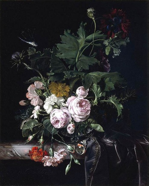 Willem van Aelst, Flower Still-Life 1677 Oil on canvas, 58 x 47 cm Private collection