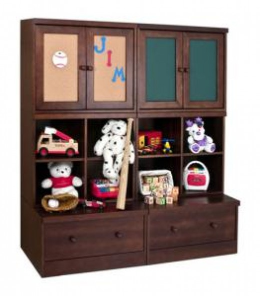 Tasteful and Elegant Playroom Storage Furniture