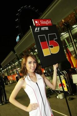 Singapore Formula One Night Race - SingTel Grid Girl