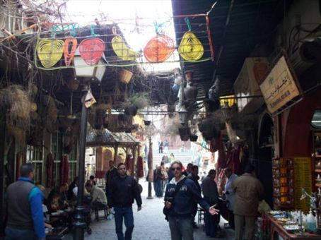 Haggling in the streets of the maze-like Old City in Damascus