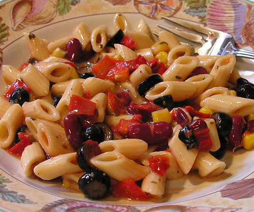 Some of Nutrisystem foods- pasta salad! photo credit: Old Shoe Woman @flickr