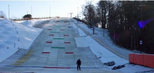 The main slope at Norfolk Ski Club - another successful descent