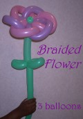 How to make a Balloon Braided Flower with Pedals