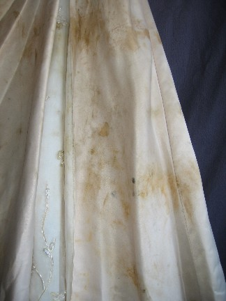 Improper care after the wedding can result in permanent staining and deterioration of your bridal gown.