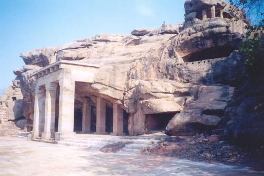 Hathigumpha, Jain cave on Udayagiri Hills, Bhubaneswar, Orissa.