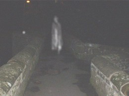 Ghostly figure caught on camera at Packhorse Bridge, Caergwrle, courtesy of Cheshire Paranormal Society