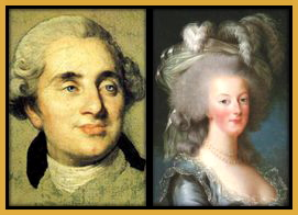 Flattering portraits of Louie XVI and Marie Antionette.