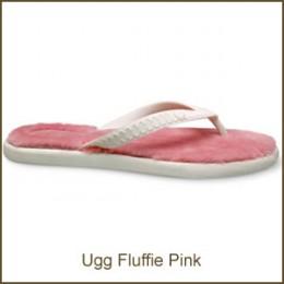 The Ugg Fluffie Pink Flip flop