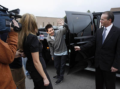 David Archuleta receives a big welcome when he went home to Salt Lake City, Utah...