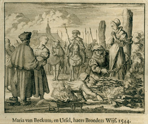 MANY ANABAPTISTS WERE BURNED AT THE STAKE